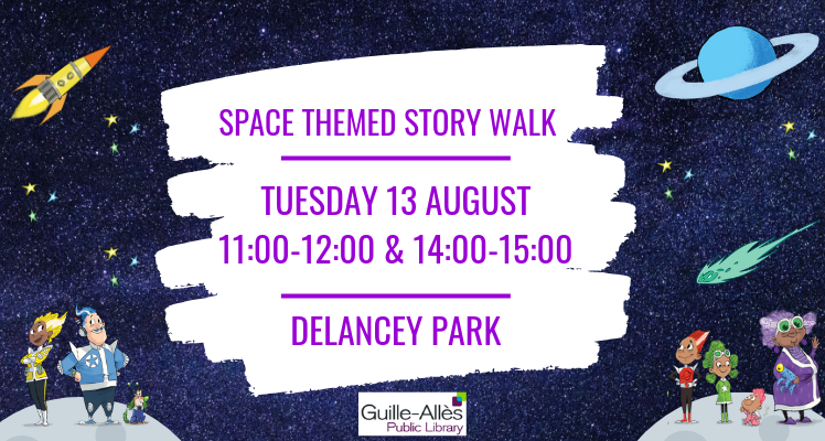 Space themed Story Walk