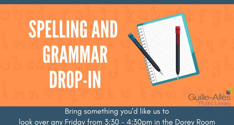Spelling and Grammar Drop-in
