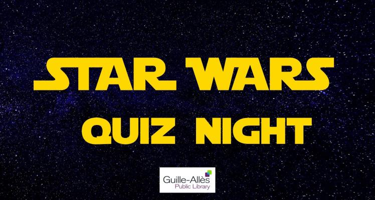 Star Wars Quiz Night SOLD OUT