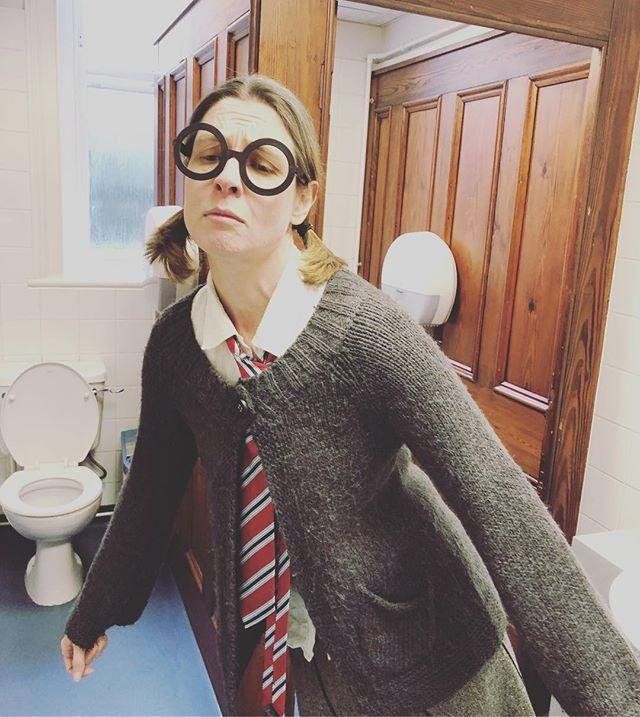 Moaning Myrtle has left the toilets! Shes on her way up to Castle Cornet for guernseymuseums Harry Potter themed event! Head up there today to meet other members of the gylibrary staff who will also be taking part between 123.30pm.