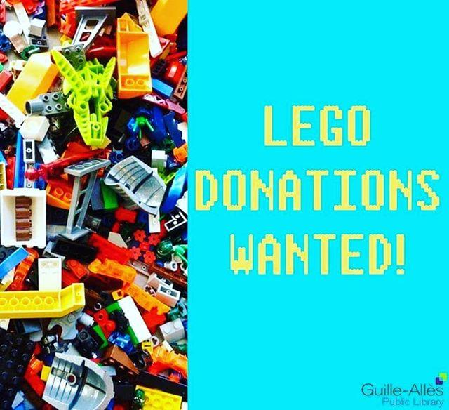 We would love your donations to make our Lego nights BIGGER and BETTER! Good condition VGC Lego only please Bring your donations to the counter where theyll be gratefully received, thank you