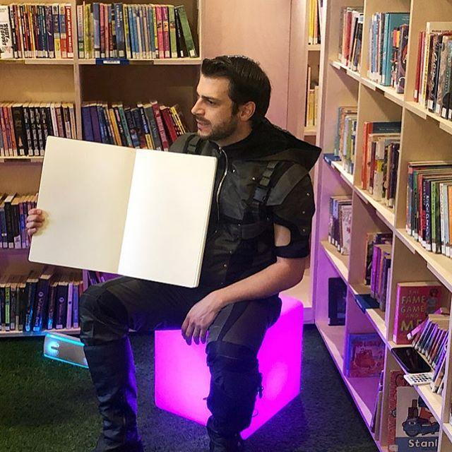 Thank you very much to the talented Oli from Tin Whistle Productions, who managed to bring both a full house and a popcorn taster to his interactive reading of The Untold Story today.