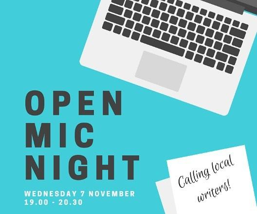 Calling local writers!  The Library and the guernseylitfest are joining forces to host a creative writing Open Mic Night on Wednesday 7 November. Read your work aloud in front of a friendly, likeminded audience  a short story, an extract from a novel, or whatever it is youre working on. Meet other writers and get inspired by each other. Find out more and book your place at www.library.gg/events#writing #amwriting #creativewriting #openmic #guernsey #whatsonguernsey