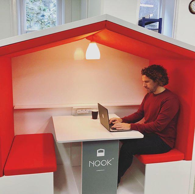 Attention students, coworkers, people who like to work in quiet, private spaces, and people who like orange.Weve just added a Nook to the Clifton Lounge on the first floor. This comfortable pod can be used for quiet individual study or as a flexible coworking space. Hold more effective small meetings and enjoy increased productivity through the heightened focus the Nook provides.Its also just pretty cool #nook #nookpod #libraries #guernsey nook.pod
