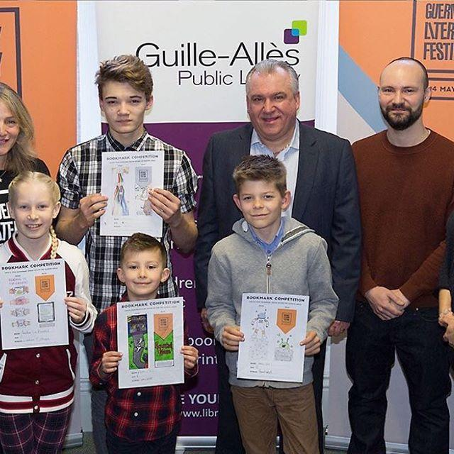 Congratulations to the winners of the Guernsey Literary Festival bookmark competition. Winners received their prizes at an award ceremony held at the library today.