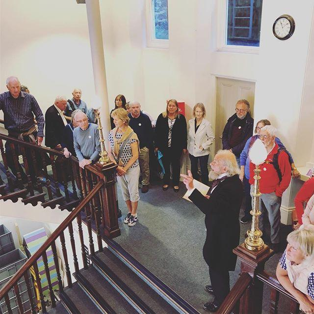 Our original curator John Linwood Pitts returned to the Library this morning, 101 years after his death, to lead a Living History tour of the building. Thanks to John Gaisford from Guernsey History in Action for bringing Mr Pitts back to life!The next tour on Thursday night is fully booked, but well be running more later in the year, so watch this space...#guernsey #libraries #livinghistory #history #tour #guernseyhistory