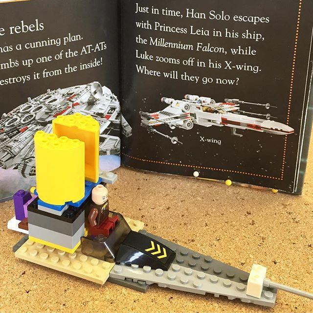 Mason made us a fantastic Rebel Alliance Lego Star Wars ship today in the childrens library. We think Han Solo would approve!