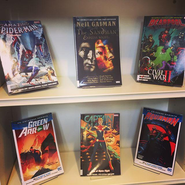 Whether youre into the battle between Superman and Batman, or prefer the adventures of Rocket Raccoon and Groot, pop along and check out our rapidly graphic novel. Our collection is at 500 titles and growing!
