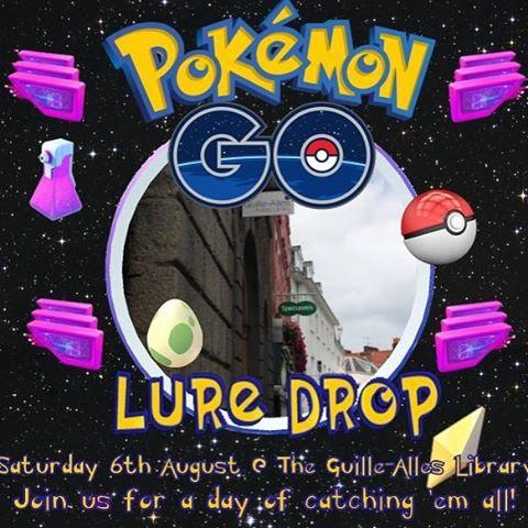 Calling all Pokmon trainers! To mark the librarys new position as a Pokstop  and to celebrate the wonderful new community of Pokmon players that has cropped up since the release of Pokmon Go  the library will be holding a Lure Drop Party on Saturday 6th August!We will be setting off lures over the building throughout the day to draw the little critters in, as well as having Pokmon themed activities taking place. Whether your phone needs a burst of energy, your Team wants an area to meet and discuss gym conquest or youd like to meet and share tips with fellow trainers, there will be plenty on offer for even the most seasoned Pokmaniac!Stay tuned to our page for information and be sure to check in with the Pokmon Go Guernsey group to stay at the top of your game! https//www.facebook.com/groups/1638235226492896/