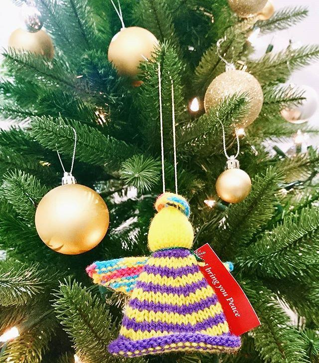What a lovely surprise outside in the market this morning! Big thanks to trinitychurchgsy for making so many people smile this morning! This little chap flew in and found a home on our tree!#trinitychurch #xmasangels #trinitygsy #angel #craft #guernsey #channelislands #stpeterport #gylibrary #library #libraries#librariesofinstagram #xmas #christmas