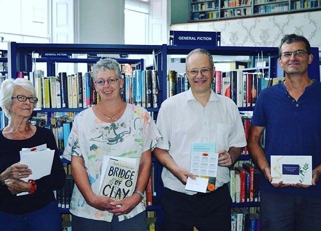 Congratulations to our Book Bingo winners Allie Staples, Maria Devlin, Nigel Presland and Paul Wakelin  Last week they popped into the Library to collect their prizes. They won, respectively, Sunday lunch for two at the Duke of Richmond Hotel, afternoon tea at the oghguernsey , a 50 voucher at  thefermainvalley and two guest passes for the Health Club at the stpierreparkhotel Not pictured is Hollie Froome, who won a 50 voucher at the Old Quarter Restaurant.All the winners said they loved taking part in the challenge. Allie told us she was thrilled when she heard shed won because I never win anything! Nigel said it had inspired him to read more widely than he used to, but also that it had sent him back to some old favourites, including the Hornblower series which he hadnt read since he was a child  and now hes working his way through them all! Paul was the fastest of the five winners to finish. He particularly enjoyed rereading Treasure Island, which was a popular book amongst all participants in the Childhood Favourite category. Maria singled out Set Somewhere Youd Love To Visit as her favourite category, though she regrets not choosing The Lord of the Rings for that one, as shed love to visit Middle Earth!Well done to all our winners, and a big thank you to everyone who took part in Book Bingo. The challenge will return in January with brand new categories  in the meantime, keep on reading! #reading #libraries #bookbingo #bookstagram #guernsey