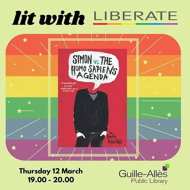 I finally discovered my contemporary kryptonite, and am happy to state that you dont always need dragons or magic to make a book awesome  The GuardianLit with Liberate is happening next month and were very excited to talk about Becky Albertallis novel, Simon vs the Homosapiens Agenda.Why not come along?