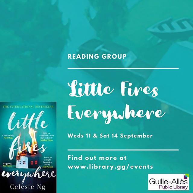 In September our Reading Group will discuss Little Fires Everywhere, the awardwinning novel by American author Celeste Ng The meetings are on Wednesday 12 amp Saturday 14 September. Its free and you dont need to book in advance. Pick up a copy of the book now and get reading Find out more on our website  #littlefireseverywhere #bookstagram #libraries #amreading