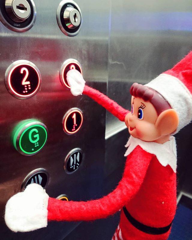 Please mind the doors. Doors closing. Lift going up... And up... And up... #gylibrary #library #libraries #librariesofinstagram #librariesofig #guillealles #guernsey #channelislands #elf #elfontheshelf #elfonashelf #elfontheshelf2018 #elfonashelf2018 #elfontheshelfideas #christmas #christmascountdown #xmas #lift #elevator #libraryantics