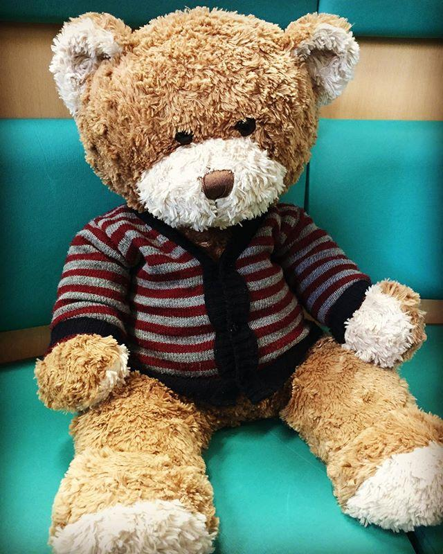Ensuring Teddy is well dressed is an important daily job in the Childrens Library!