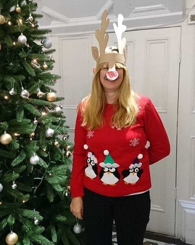Its National #uglychristmassweater Day! We have our #festive finery on to celebrate. #donwenowourgayapparel#uglychristmassweaters #uglychristmasjumper #christmas #christmasjumper #christmassweater #deckthehalls #library #libraries #librariesofinstagram #librarylife #seasonsgreetings #gylibrary #xmas #xmasjumper #xmasjumpers #xmassweater #xmassweaters #whatthelibrarianwore