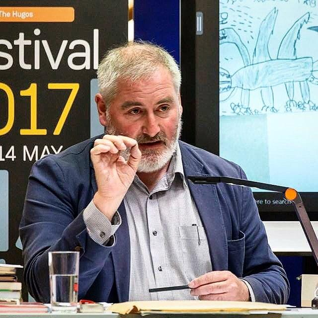New podcast!At the #guernseyliteraryfestival we spoke to the Childrens Laureate, Chris Riddell, about the power of libraries, the joy of doodling, and the fun of social media. Listen on iTunes or at www.library.gg/podcastsguernseylitfest chrisriddell #podcast #libraries #librariesofinstagram #librariesrock #podcasts #doodling #drawing #chrisriddell #sketching #illustration #guernsey #loveguernsey