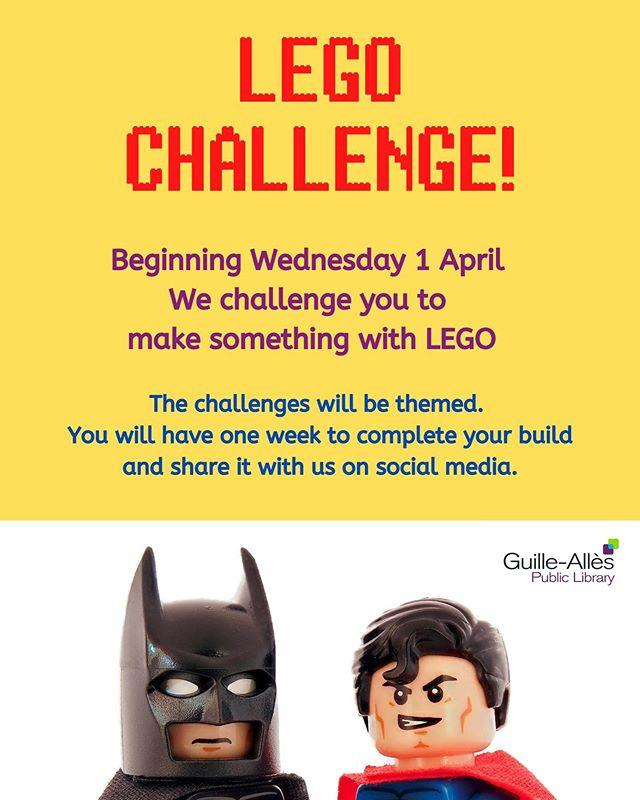 Missing our LEGO nights at the Library? Why not join in our virtual LEGO club! We will be setting a weekly challenge, starting tomorrow, so keep an eye out for the theme!