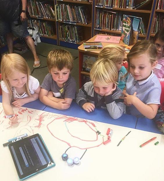 Fun with the Ozobots at STArt Club today! A great way to kick off #NationalCodingWeek by teach preschool coding skills