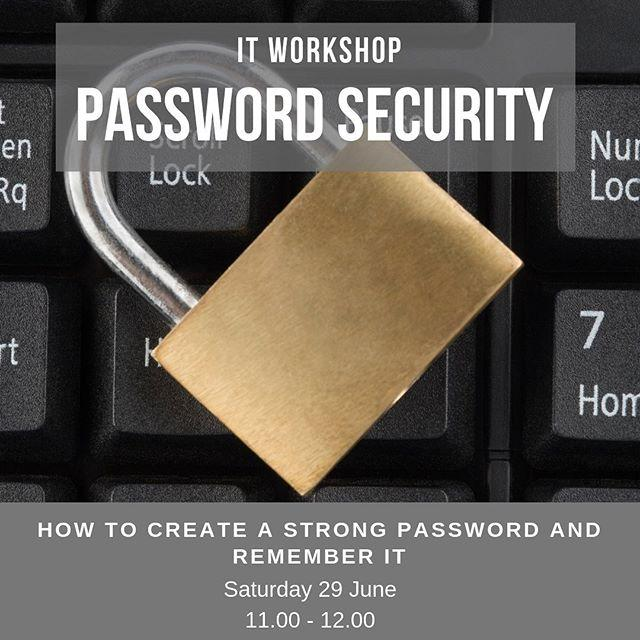 Too many passwords to remember? Always use the same password for everything?At this free IT workshop, learn how to create a strong password and remember it!, manage passwords across multiple accounts, and protect yourself online  Book your free ticket on our website #libraries #passwords #itworkshop