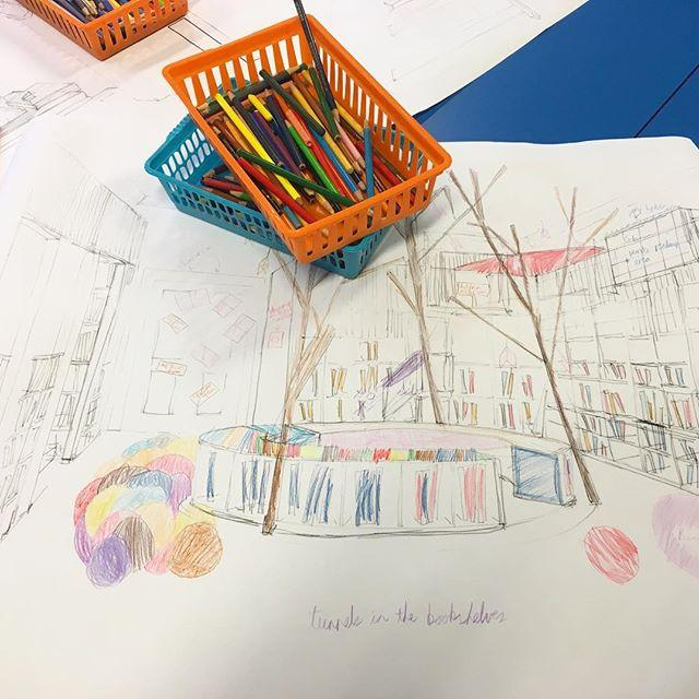 The sketches for the Childrens Library Project were brought to life today by members of the book groups who met up this afternoon. Architect Chris Martel from ccdarchitects Architects was on hand to share the plans with the Bookworms and a few of the Book Brains. Thanks to orchardpr for filming the session and listening to some great ideas from the children. For more information on the project including how to donate, visit www.library.gg/kids