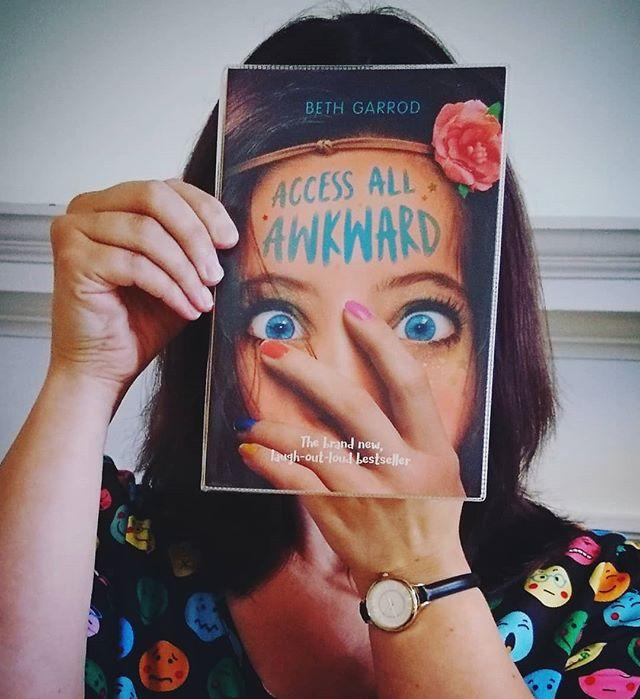 That awkward moment when its #bookfacefriday and your emojis are showing!bethgarrod scholasticuk #bookface #friday #gylibrary #library #libraries #librariesofinstagram #librariesofig #guillealles #showmeyourbookface #bestofbookface #guernsey  #scholastic #scholasticuk