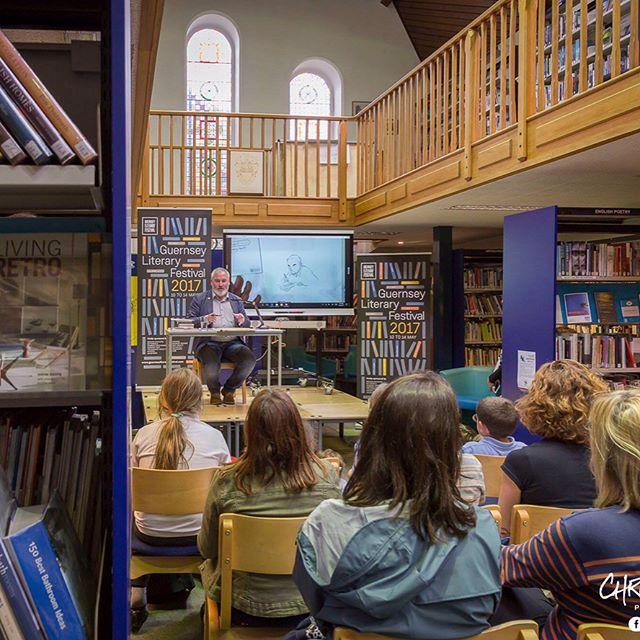 Some beautiful photographs of our wonderful event with the Childrens Laureate chrisriddell taken by georgiesguernsey for the final event of guernseylitfest