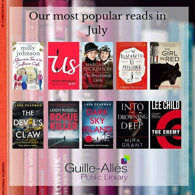 Wondering what your next read should be?  Here are last months most popular reads