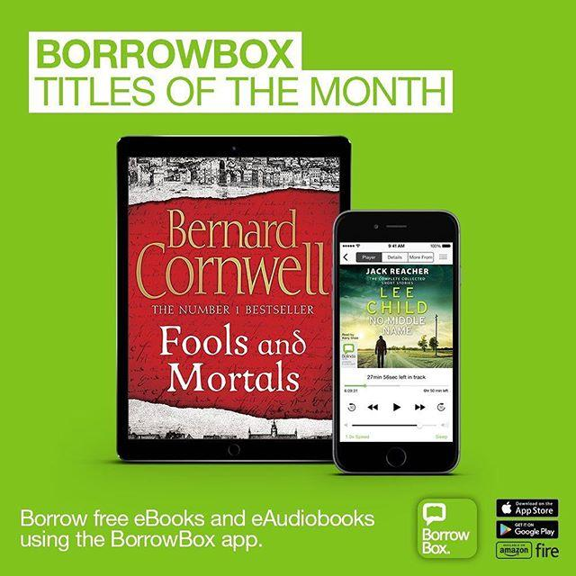 BorrowBox titles of the month Some great new reads on BorrowBox in October. Our eBook pick is Fools and Mortals by Bernard Cornwell, which takes us into the life of struggling Elizabethan actor Richard Shakespeare, whose older brother is becoming quite famous. Our eAudio pick is No Middle Name by Lee Child  a collection of Jack Reacher short stories and a brand new novella. Perfect listening while youre on the go! Get started on BorrowBox at www.library.gg/ebooks#borrowbox #ebooks #libraries #librariesofinstagram #audiobooks #guernsey #librariesrock